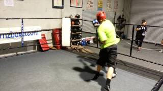 Final Light Sparring Session At Home Gym Before Nationals