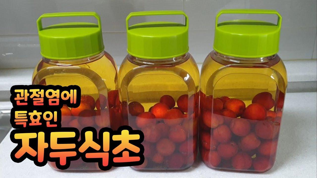 [차차네집밥] 자연 발효 자두식초 ( plum vinegar )