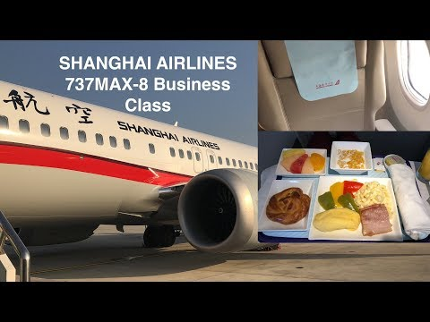 [4K Quality] Shanghai Airlines 737 MAX-8 Business Class Shanghai Pudong to Shenyang