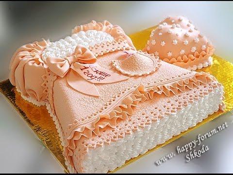 Торт в виде платье детское