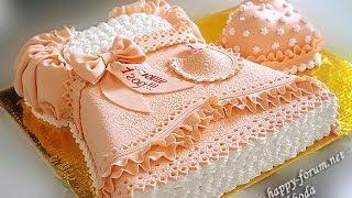 как сделать торт платье