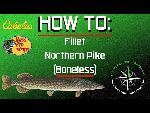 How to clean and fillet Northern Pike. Boneless method.