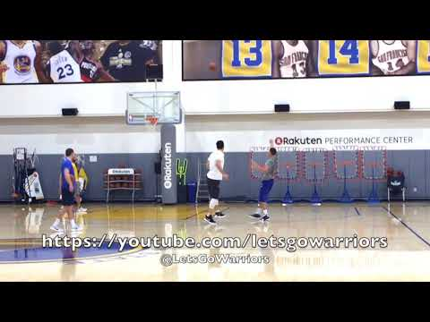Klay Thompson vs Zaza Pachulia 1-on-1 after GSW practice, day before Minnesota Timberwolves