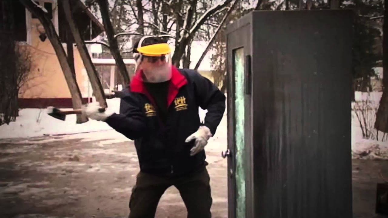 Bulletproof Glass Gun Cabinet Test