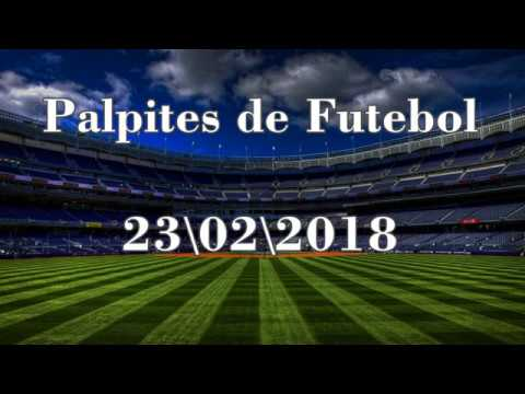 Palpites de Futebol - 23/02/2018