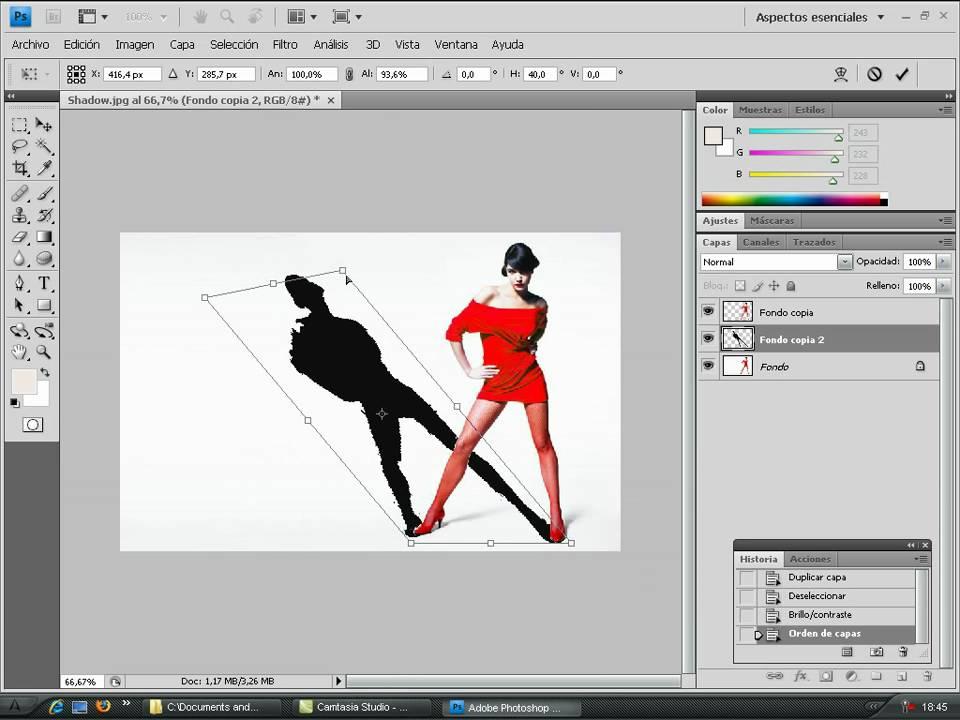 Crear La Sombra De Una Persona En Photoshop
