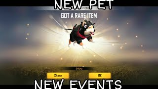 NEW PET | NEW EVENTS | FREE FIRE BATTLEGROUNDS
