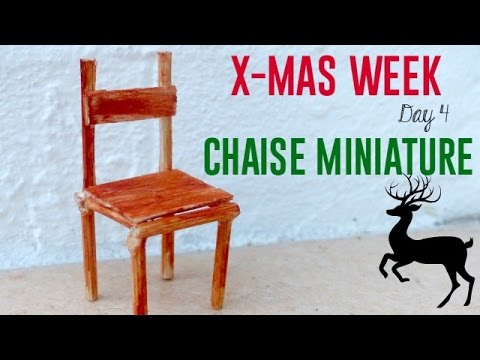 X mas week tuto chaise miniature youtube for Chaise youtubeur