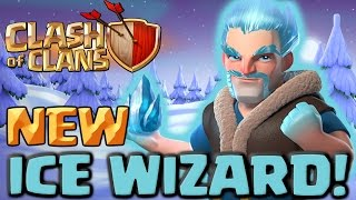 Clash of Clans NEW Troop ICE WIZARD! Clashmas Gift #3 Attacks and Gameplay