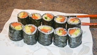 How To Make Easy And Simple Alaskan Sushi Roll - Video Recipe