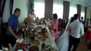 Украшение свадебного стола за 30 секунд