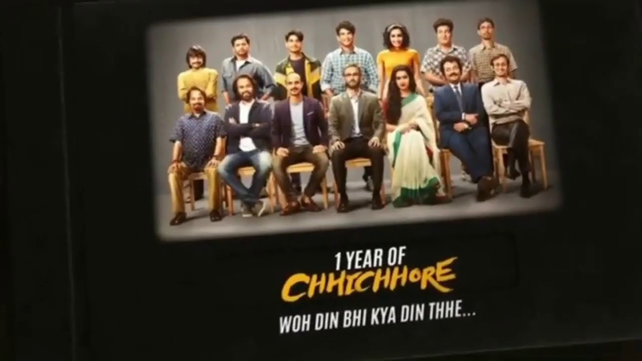 1 Year Of Chhichhore ❤🎉 This movie will always hold a very special place in our hearts. 😭
