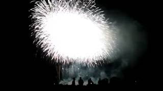江戸川・市川花火大会 2016 フィナーレ 市川市側河川敷から