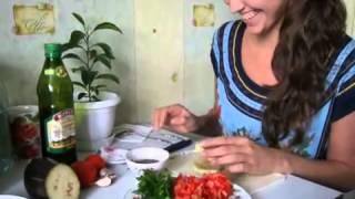 Овощной салат для похудения  Баклажан+