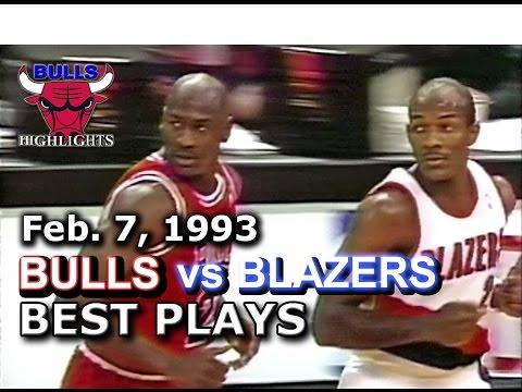 Feb 7, 1993 Bulls vs Blazers HD highlights