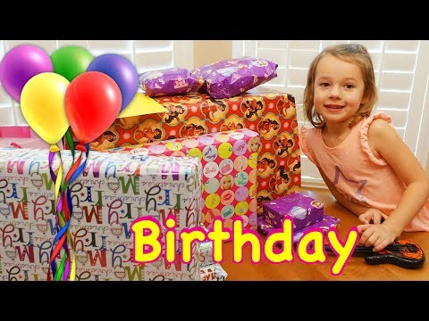 Opening Birthday Presents Happy Birthday Ava! Barbie RV, Disney Lego Gifts & The Best Girl Toys