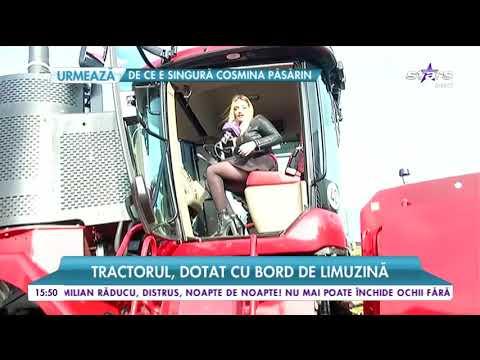 Tractor cât un penthouse de lux în București. Doar senilele sunt cât un om