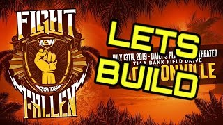 Buididng AEW Fight For The Fallen - ROBLOX Studio