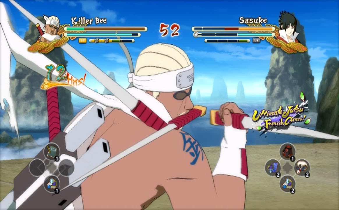 (PS3) Killer Bee (Seven Swords Dance) vs Taka Sasuke ...