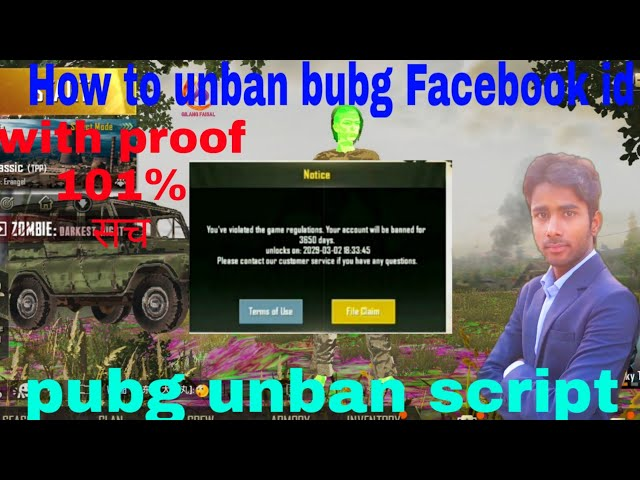 how to unban pubg mobile
