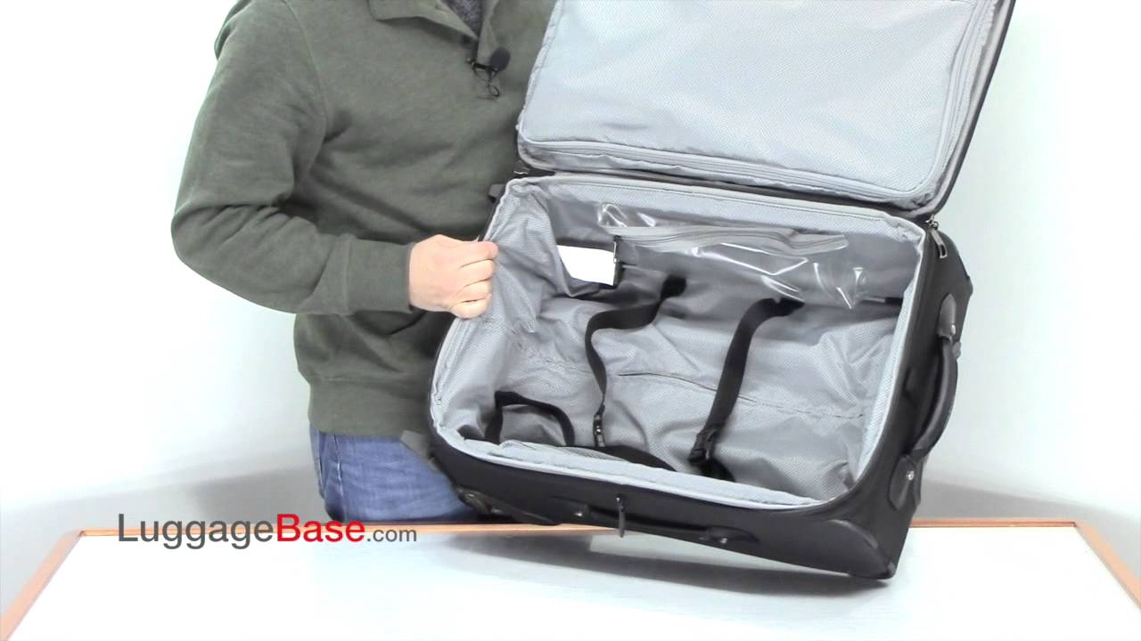 2600b1ed7 Travelpro Crew 10 22 inch Rollaboard Suiter - Luggage Base - YouTube