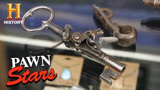 Pawn Stars: RARE KEY GUN WORTH A TON OF MONEY (Season 17) | History