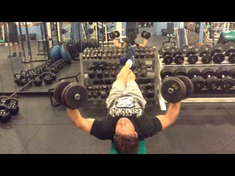Mark Mcentee - 35 lb. Dumbbell Flies for 8 Reps.