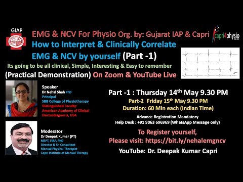 PART 1:  EMG & NCV How To Interpret & Correlate Clinically By Yourself From Physio Point Of View