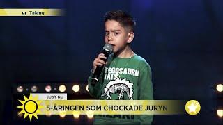 Möt 5-åringen som chockade juryn - Nyhetsmorgon (TV4)