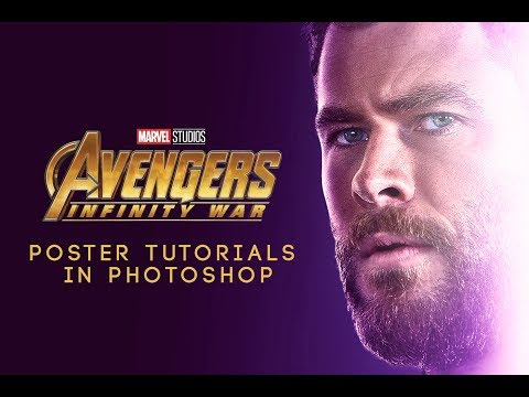 Avengers Infinity War Thor Movie Poster Effects In Photoshop in 30 minutes