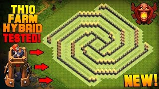 Clash of Clans | BEST TH10 Farming Base with BOMB TOWER | The Sun | Town Hall 10 Hybrid Base [2016]