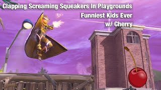 Trolling Screaming Squeakers In Playgrounds! SUPER FUNNY! (Cherry's Vid and POV)
