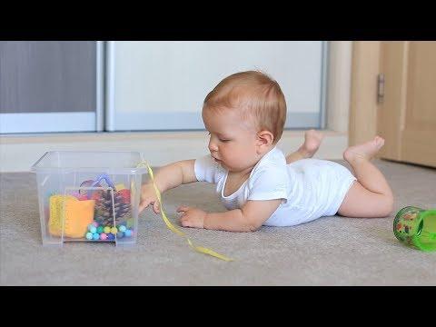МЕЛКАЯ МОТОРИКА - Развивающие занятия для детей от 6 до 9 месяцев - 1 часть