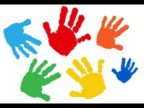 Pintar con manos y pies recuerdo 1r mes diy bebe - Ninos pintando con las manos ...
