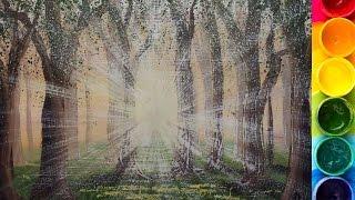 Как нарисовать ЯРКОЕ СОЛНЦЕ в лесу гуашью(Рисуем картину с солнцем в лесу. Подробно показываю и рассказываю. Материалы, которые нужны для рисования..., 2016-01-24T16:34:46.000Z)