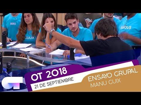 ENSAYO GRUPAL con MANU GUIX | OT 2018