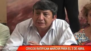 CÍVICOS RATIFICAN MARCHA PARA EL 3 DE ABRIL.