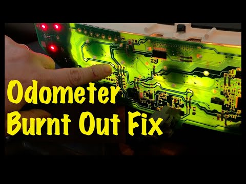 2000 01 02 03 04 05 Chevrolet Cavalier Pontiac Sunfire Odometer Burnt Out Backlight Bulb PCB Repair