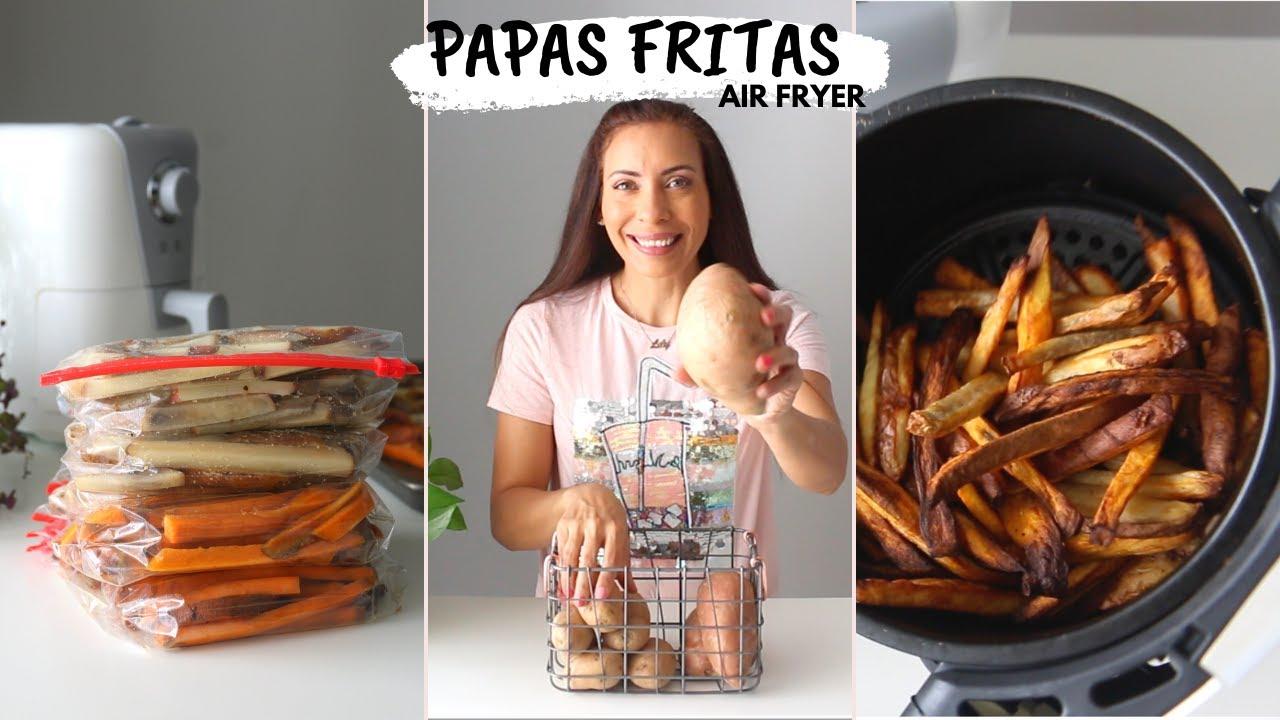 PAPAS FRITAS SIN ACEITE -  Truco para congelar   FREIR EN AIR FRYER