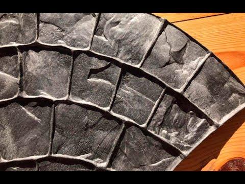 Как сделать штамп для бетона