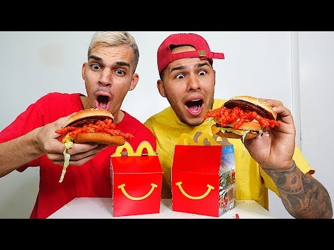 Trying McDonald's New HOT CHEETOS Cheeseburger!! (SECRET MENU)