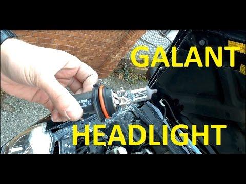 2005 - 2009 mitsubishi galant headlight bulb replacement - youtube - 2004 mitsubishi  galant wiring diagram