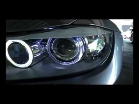 bmw 320i e90 2011 angel eyes led branco xled brasil. Black Bedroom Furniture Sets. Home Design Ideas