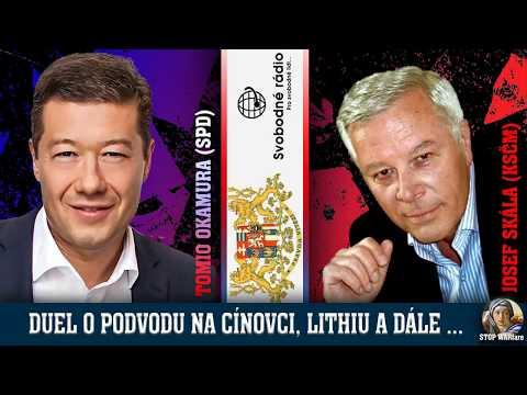 O kauze Cínovec, lithium aj. Duel Okamura (SPD) + Skála (KSČM) na Svobodném rádiu 5.10.2017