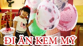BÉ BÚN ĐI ĂN KEM NHIỀU MÀU | Eating colorful ice cream