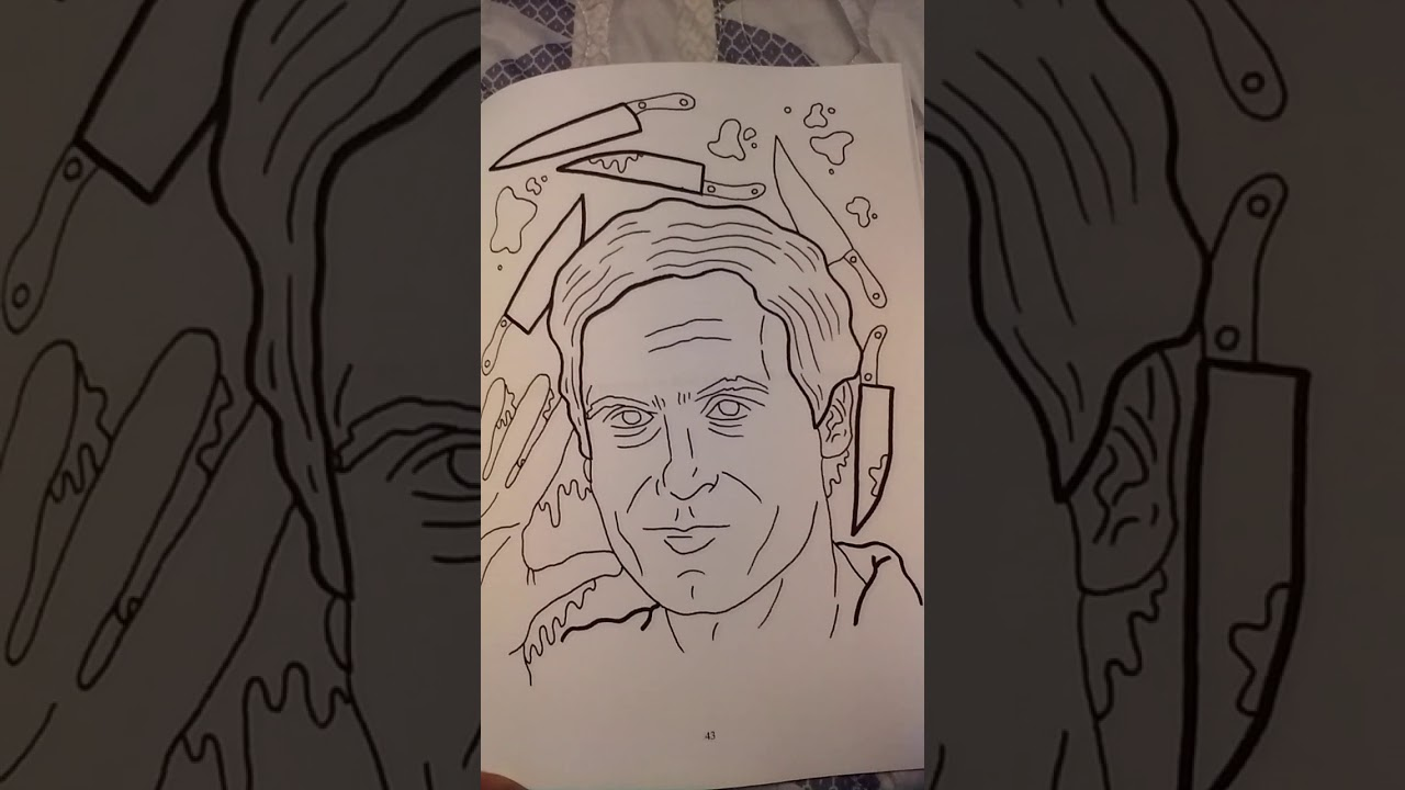 My New Serial Killer Coloring Book How Cool Is This I Love It