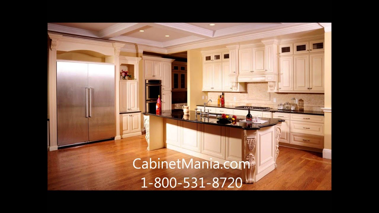 Linen RTA Cabinets from Cabinet Mania - YouTube