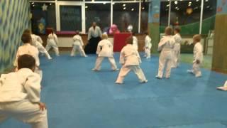 Тренировка по айкидо детей 4-6 лет