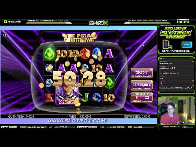 The Final Countdown 20€ HIGHROLL ULTRA INSANE WIN Big Time Gaming