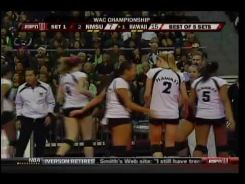 Rainbow Wahine Volleyball 2009 WAC Champs (part 1 of 7)